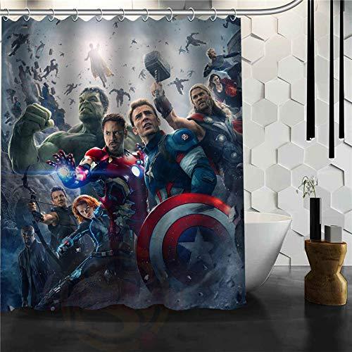 ZHANGSHUQI Custom-The-Avengers-Marvel-Held-Duschvorhang-Neue-große-europäische-&-amerikanische-große-Ideen-Print-Edition