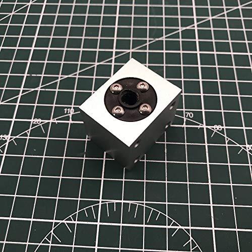 WNJ-TOL, 1set T8 losse spindel huis houder met POM-moer schroeven zilver montagebeugel gemaakt van aluminium voor DIY 3D-printer graveermachine