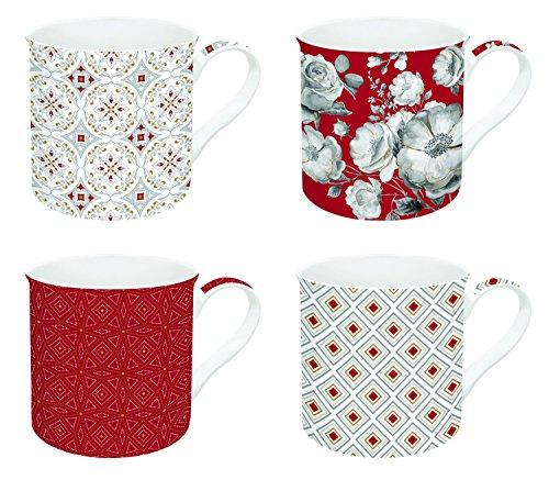 R2S 179TCRE Trend & Colors Coffret 4 Mugs 30 cl Porcelaine Rouge 30 x 15 x 15 cm 4 unité(s)