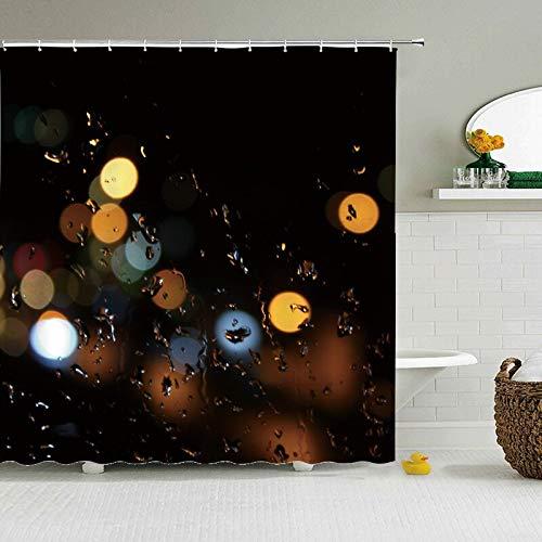 Duschvorhang, Regentropfen-Stoff, modern, Polyester, wasserdicht, 180 x 180 cm