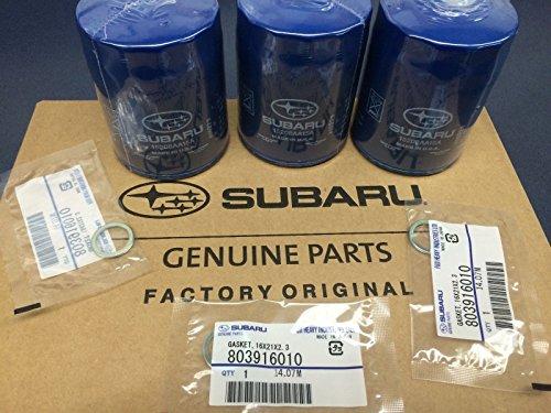 2011-2017 OEM Subaru Engine Oil Filter & Gasket 15208AA15A Geniuine Impreza Legacy Forester 3 PACK