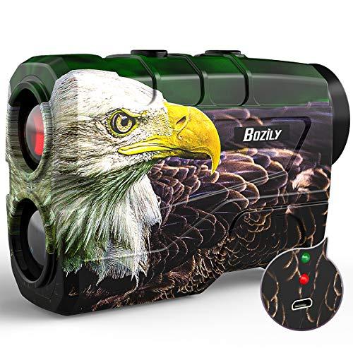 Bozily Laser Jagd Entfernungsmesser Golf 1000 Yards, Bogenschießen Entfernungsmesser mit Scan, Winkel und 6-facher Vergrößerung Wiederaufladbar Laser Entfernungsmesser für Jagd Schießen Golf…