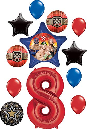 WWE Party Supplies 8th Birthday Balloon Bouquet Decorations