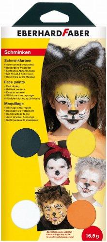 Eberhard Faber 579001 Schminkfarbe Tiere, 4er Set
