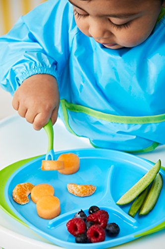 b.box Toddler Feeding Set | Color: Ocean Breeze | Includes: Sippy Cup, Cutlery Set and Divided Plate | 6 Months + | BPA…
