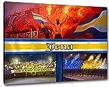 Ultras JENA, Bild auf Leinwand Panorama, fertig gerahmt,