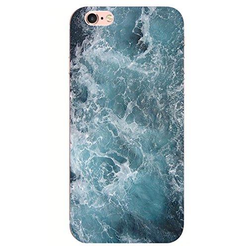 iPhone 6S Custodia, iPhone 6 Cover,Case Morbido Trasparente Antiurto Silicone Originale con Disegni TPU Bumper con Apple Case Protettiva Trasparenti Posteriore per iPhone 6 / iPhone 6S (Marmo 7)