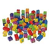 BIOBUDDI Learning to Build 100 pcs 100pieza(s) - Bloques de construcción de Juguete (Multicolor, 100 Pieza(s), Plaza, Imagen, Preescolar, Niño/niña)