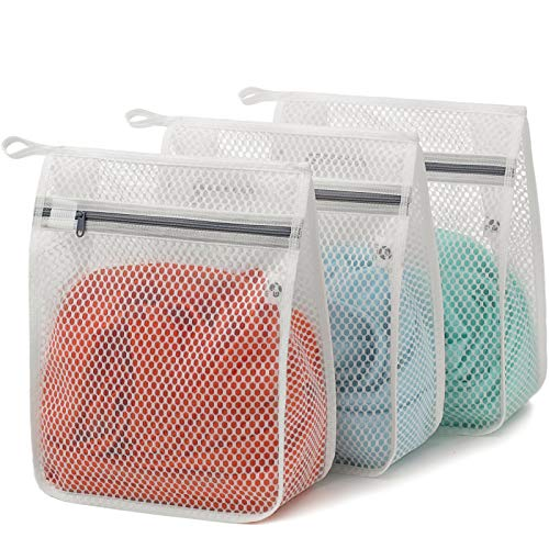 3 Pack 3 Small Delicates Honeycomb Mesh Laundry Bag Color Zipper Lingerie Socks Fine Knitwear Bra Baby Products Mesh Wash Bags