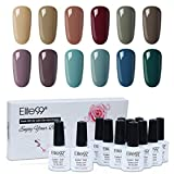 Elite99 Esmaltes Semipermanentes de Uñas en Gel UV LED, 12 Colores Kit de Esmaltes de Uñas 003