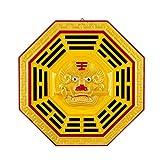 xinxinchaoshi Feng Shui Espejo Bagua Tiger Head Bagua Espejo Colgante Chino Tradicional Bagua Espejo melocotón Madera producción Feng Shui Espejo Traditional Feng Shui de protección (Size : 12cm)