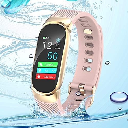 Reloj Inteligente BINSSAW Inteligente Uhr Frauen IP67 Wasserdichte Uhr Herz Tasa Schlaf Monitor Informationen rufen Erinnerung Inteligente Sport Uhr lishizhong (Color : 04)