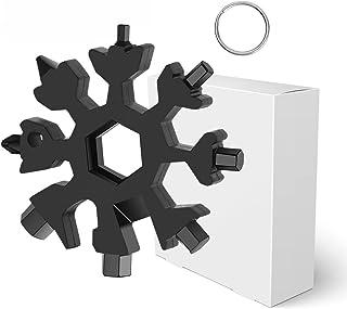 18-in-1 Snowflake Multi Tool, 18 in 1 Stainless Steel Multi-Tool Portable Screwdriver Keychain Snowflake Tool,Great Christ...