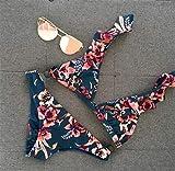 KKAAMYND Las Mujeres Push-up con Relleno de Bikini Retro del Traje de baño Traje de baño de la impresión de Las Muchachas Ropa de Playa Femenino del bañador del Juego de natación Biquini