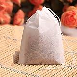 vkospy 100pcs tè 5.5x7cm vuote borse tè profumato con lo spago heal guarnizione del filtro di carta
