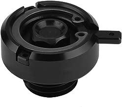 Motorcycle Engine Fuel Cap, Keenso Engine Oil Tank Fuel Cover Guard Protector With O-Ring Gasket For Ducati Honda Kawasaki Yamaha(Black)