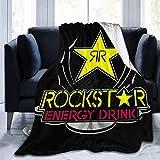 Star Heaven Rockstar Energy Drink - Manta de felpa para sofá de cama, cálida y suave, 203 x 152 cm