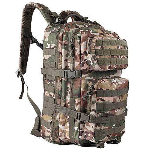 OLEADER Militär Rucksack 45L Taktischer Rucksack Wasserdichter großer Sturmrucksack Molle Rucksäcke für Outdoor-Wandern, Trekking, Camping (Jungle camo)