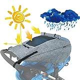 Sombrilla Carrito Bebé Universal,Capota Carrito Bebé Anti-UV,Parasol para Cochecito de Bebé, Toldo Universal para Cochecito con Protección Solar UV 50+