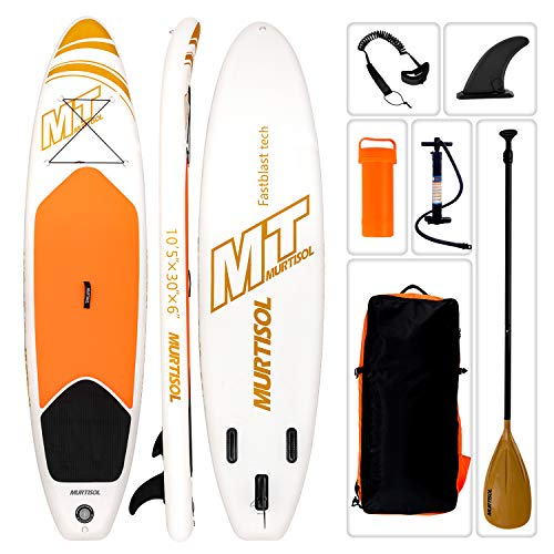 Murtisol 10'5'' Inflatable Stand Up Paddle Board(30in Width), Ultra-Thick Durable PVC, Non-Slip...