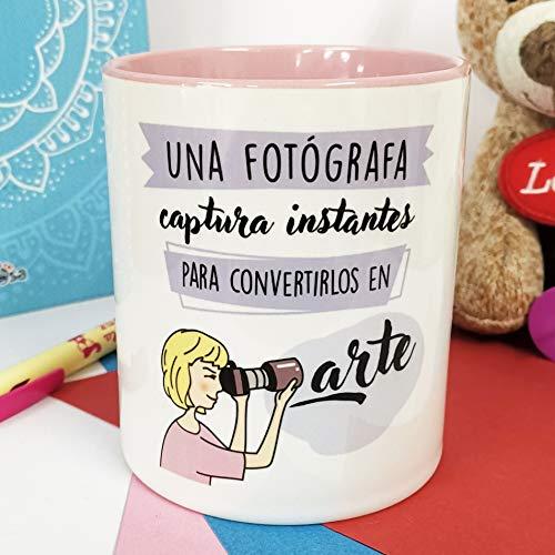 La mente es Maravillosa - Taza Frase y Dibujo Divertido (Una fotógrafa Captura instantes para convertirlos en Arte) Regalo FOTÓGRAFA