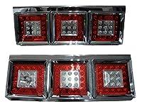 3連LEDトラックテールランプ 【ホワイト】