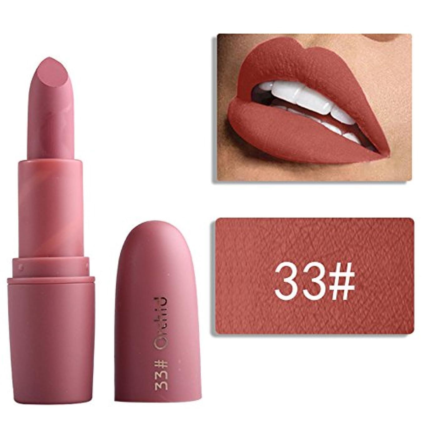 穏やかな提案する好奇心Miss Rose Nude Lipstick 22 colors Waterproof Vampire Brown Beauty Baby Lips Batom Matte lipstick Makeup Tats Eugenie Margherita