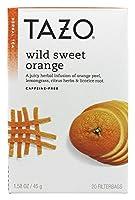 TAZO タゾワイルドスウィートオレンジティーカフェインフリー 20 杯分 並行輸入品