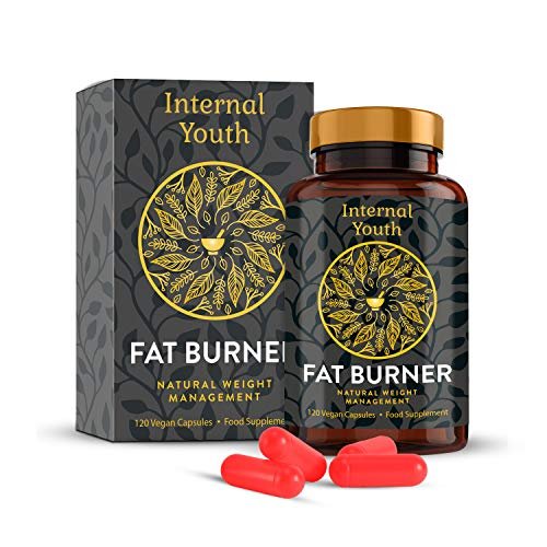 Natural Fat Burner Supplement for Women & Men's Weight Loss – 120 Advanced High Strength Diet Pills – Contains Natural Ingredients to Reduce Hunger Levels - Internal Youth Natural Weight Management