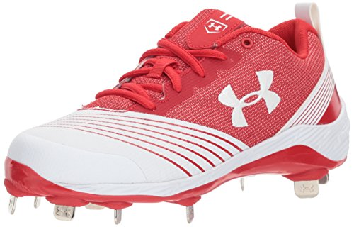 Under Armour Frauen Ua W Glyde St Low & Mid Tops Schnuersenkel Baseball Schuhe Rot Groesse 12 US /43 EU