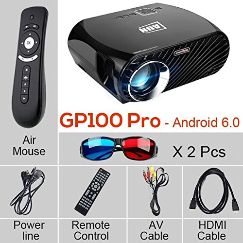 Proyector GP100 Pro, conjunto en Android 6.0.1, WiFi, Bluetooth. 1280 * 768, 3200 lumens beamer Suppor Full HD