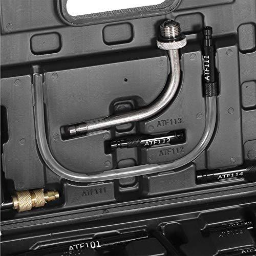 Cambio de aceite de transmisión, cambiador de aceite manual Cambio de aceite automático portátil, 7.5L con 15 adaptadores para herramienta de cambio de aceite