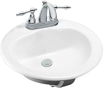 Glacier Bay Aragon Drop In Bathroom Sink In White Discontinued Amazon Com