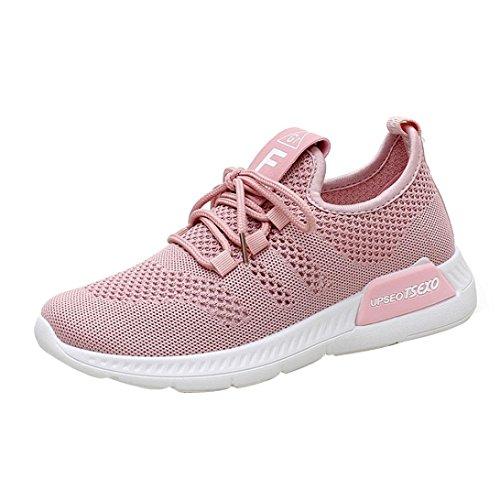 Zapatillas de Deporte para Mujer Otoño Invierno PAOLIAN Calzado de Dama Moda Zapatos de Escolares Cordones Breathable Senderismo Negras Running Aire Libre y Deporte de Exterior Grandes