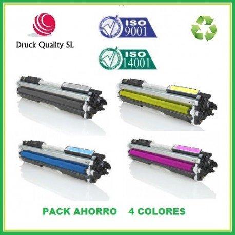 DQ CB540A, BDQ+DQ CB541A+DQ CB542A+DQ CB543A Pack Ahorro 4 Colores Toner sustituyen HP 125A