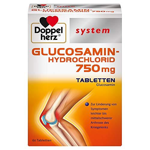 Doppelherz GLUCOSAMIN-HYDROCHLORID 750 mg Tabletten – Zur Linderung von Symptomen leichter bis mittelschwerer Arthrose des Kniegelenks – 60 Tabletten