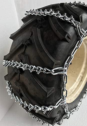 Review Of TireChain.com 27 X 9.50 X 15, 27 9.50 15 Heavy Duty 2 Link V Bar Tractor Tire Chains