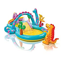 Intex Dinoland Inflatable Play Center Water Slide Baby Water Slide baby pool kids water slide kids pool summer