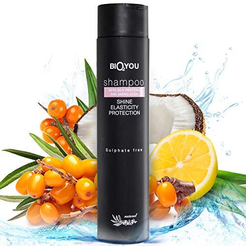 Champ natural con protenas de seda Aminocidos Coco-glucsido Extracto de fruta de espino cerval de mar y ortiga
