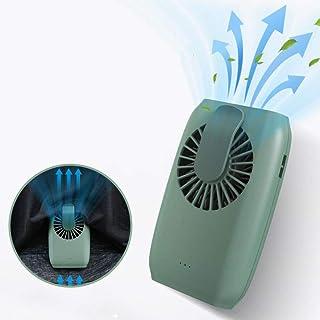 WHNBA Aire Acondicionado Ventilador De Cintura Colgante Carga USB Deflector De RefrigeracióN Exterior Bolsillo Enfriador De Aire Escritorio De Estudiante Silencio Cuello Colgante PortáTil