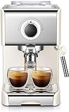 DGYAXIN Máquina de Espresso, Cafetera Espresso Steam & Pump 20 Bar de presión/1,2 litros/1250 vatios/Operación con un Solo botón/Espuma de Leche de Vapor para el Hogar/Oficina - Blanco