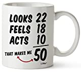 50th Birthday Gifts For Women Fifty Years Old Men Gift Mug Happy Funny 50 Mens Womens Womans Wifes Female Man Best Friend 1971 Male Unique Mugs Ideas 70 Woman Wife Gag Dad Cute Girls Guys Good Husband