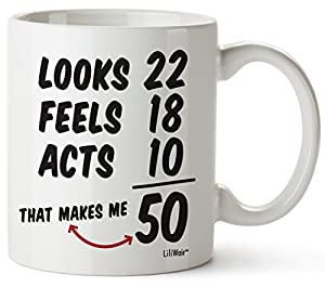 Funny Mug That Adds Up To 50 Perfect Gag Gift For The Year Old
