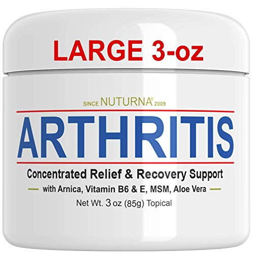 Arthritis Cream - Joint, Tenderness & Stiffness Support - Maximum Strength Fast Acting Relief Cream for Feet, Hands, Legs, Toes Reliever, Large 3 OZ