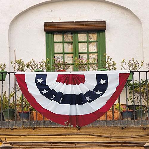 Mumusuki Bandera de América Jardín Americano Asta de la Bandera Bandera de los Estados Unidos Estrella patriótica Rayas Bandera Decoración al Aire Libre