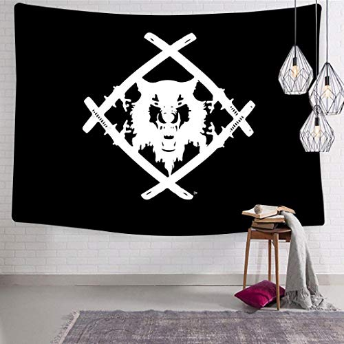 shenyizhu Xa-Vier W-ULF Anime Logo 3D Boutique Tapestries Pop Artwork Wall Hanging Fabric Blanket for Bedroom Living Room Dorm Decor 51.2 x 59.1 Inch