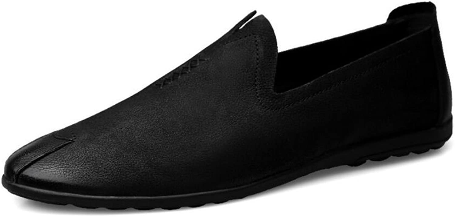 Men's shoes PU Spring Fall New Comfort Man Loafers & Slip-Ons Low Top Fashion Casual shoes Mens shoes Driving shoes (color   Black, Size   38)