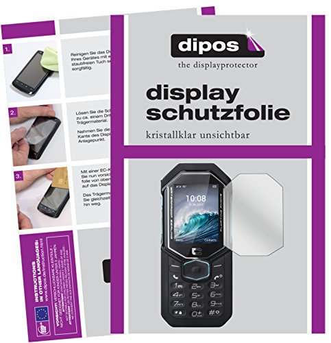 dipos I 6X Schutzfolie klar kompatibel mit Crosscall Shark-X3 Folie Bildschirmschutzfolie