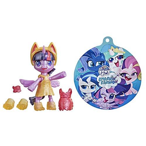 My little Pony Hasbro F1756 Smashin' Fashion Schmetter-Pack Twilight Sparkle – bewegliche Figur (7,5 cm) mit Modeaccessoires und Überraschung, 9 Teile