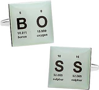元素記号 メッセージ ボス カフス カフスボタン カフリンクス n01423